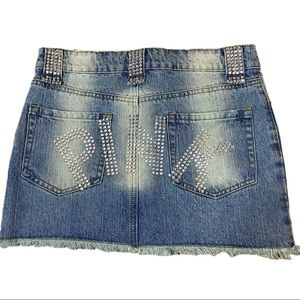 Tea/f Small Denim Jean Bling Mini Skirt